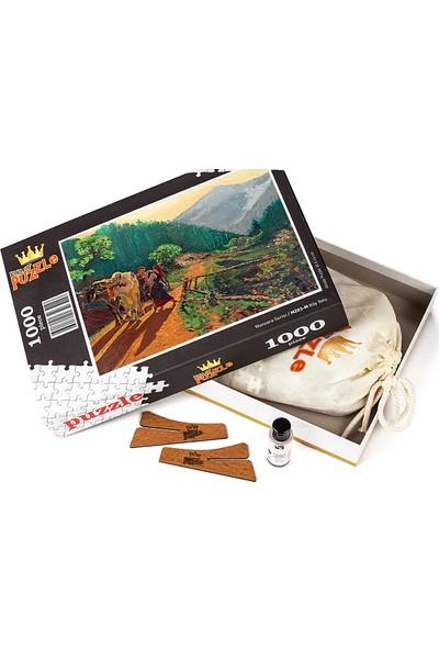 King Of Puzzle Köy Yolu Ahşap Puzzle 500 Parça (MZ04-D)