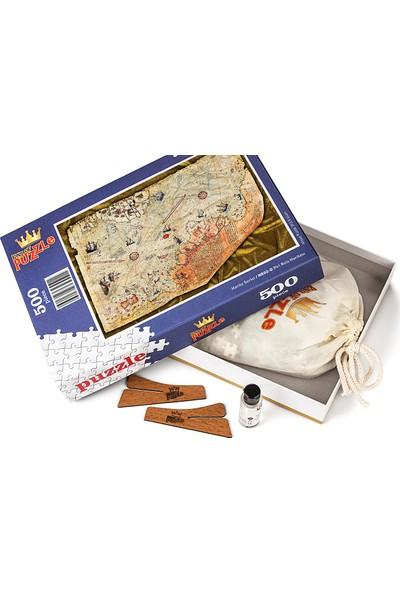 King Of Puzzle Piri Reis Haritası Ahşap Puzzle 500 Parça (HR02-D)