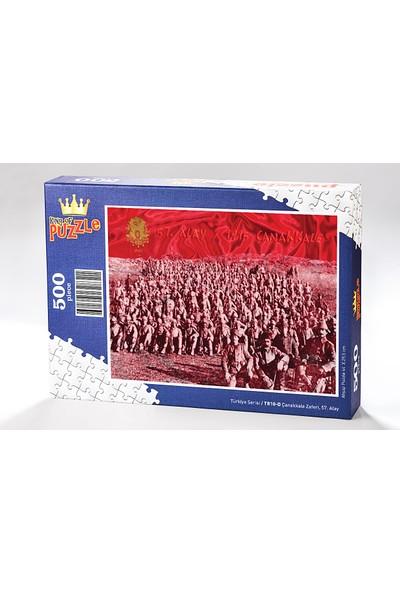 King Of Puzzle Çanakkale Zaferi 57. Alay Ahşap Puzzle 500 Parça (TR10-D)