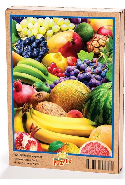 King Of Puzzle Renkli Meyveler Ahşap Puzzle 204 Parça (YI01-CC)