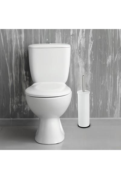 Foreca Beyaz Klozet Tuvalet Wc Fırçası Mikro 1 Paslanmaz Metal