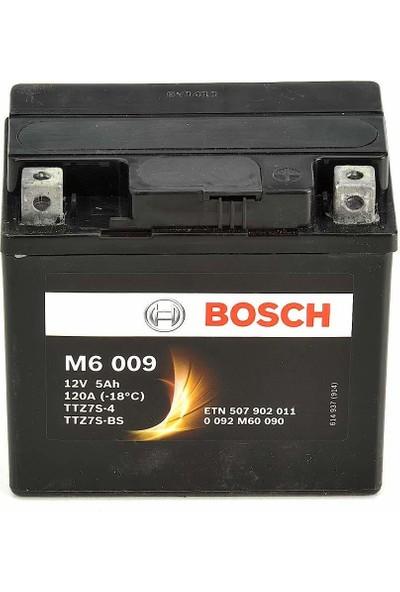 Bosch 5 Amper AGM Motosiklet Aküsü M6009