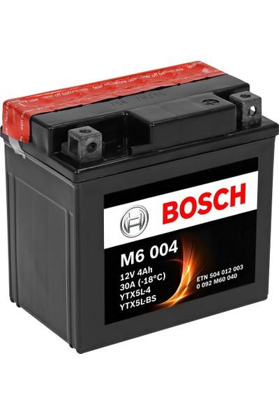 Bosch 4 Amper AGM Motosiklet Aküsü M6004