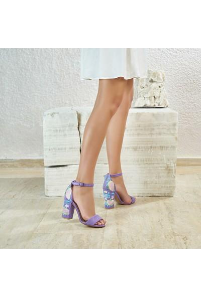 Butigo Lili*24Z Lila Kadın Sandalet