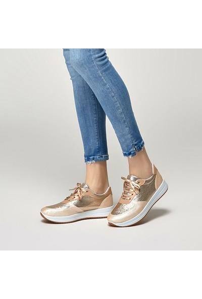 Polaris 91.313371.Z Altın Kadın Spor Ayakkabı