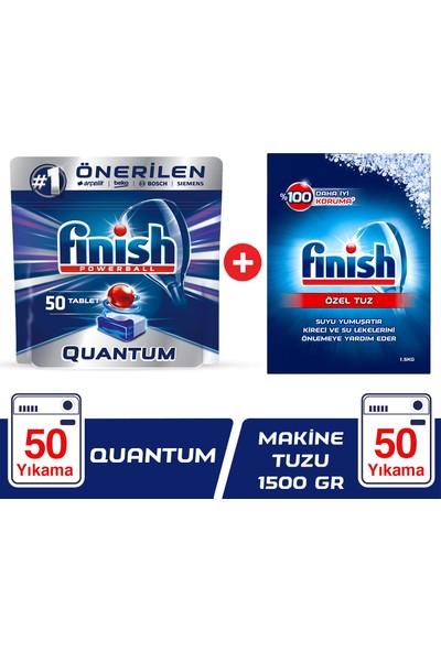 Finish Quantum 50 Tablet Bulaşık Makinesi Deterjanı + Finish Tuz 1500 gr