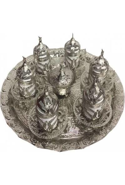 Gaziantepten Bakır Gümüş Döküm Kahve Fincanı Takımı Seti