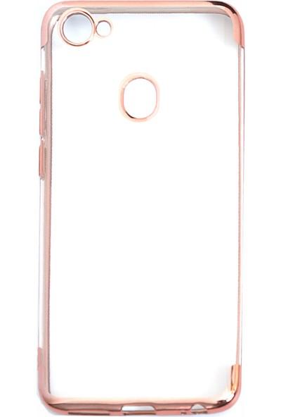 Happyshop Casper Via G3 Kılıf 4 Köşe Renkli Şeffaf Laser Silikon Rose Gold + Cam Ekran Koruyucu