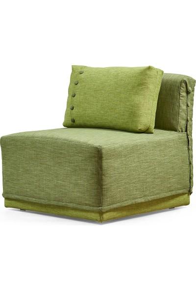 Buka Nokta Tekli Yataklı Koltuk Açık Yeşil