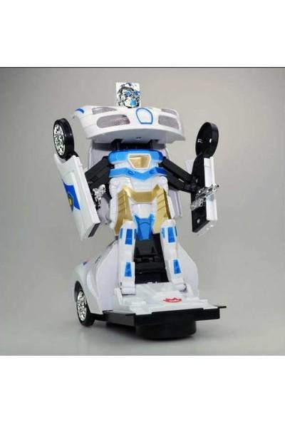 Beren Transformers-Robota Dönüşen Işıklı, Sesli, Sensörlü Polis Arabası