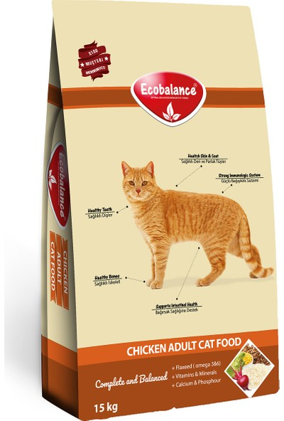 Ecobalance Gourmet Mix Yetişkin Kedi Maması 15 kg