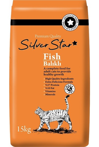 Silver Star Balıklı Yetişkin Kedi Maması 15 kg