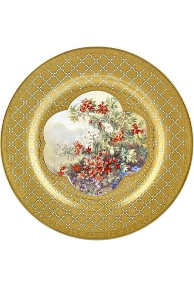 Cemile Renkli Çiçekli 6 lı Pasta Tabağı Seti