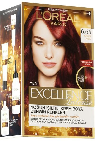 L'Oréal Paris Excellence Intense Saç Boyası 6.66 Yoğun Kızıl