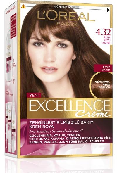 L'Oréal Paris Excellence 4/32 - Altın Koyu Kahve Saç Boyası