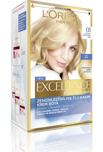 L'oréal Paris Excellence Creme Saç Boyası 01 Çok Çok Açık Doğal Sarı