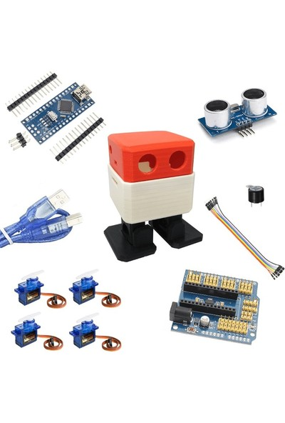 Robocombo Kırmızı Otto Robot Seti (DIY)