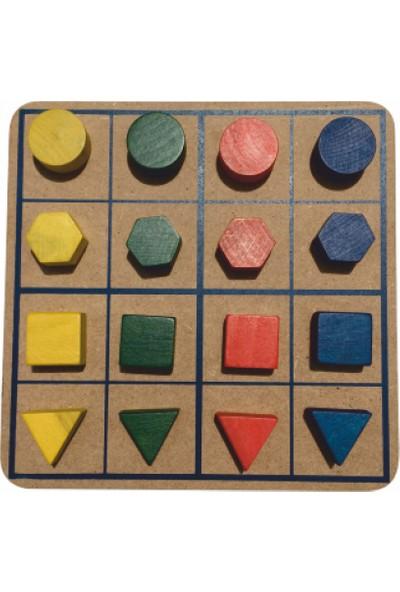 Sorona Şekiller Ve Renklerle Sudoku
