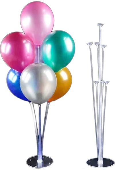 Tahtakale Toptancısı Balon Süsleme Standı 7 Çubuklu Set 75 cm