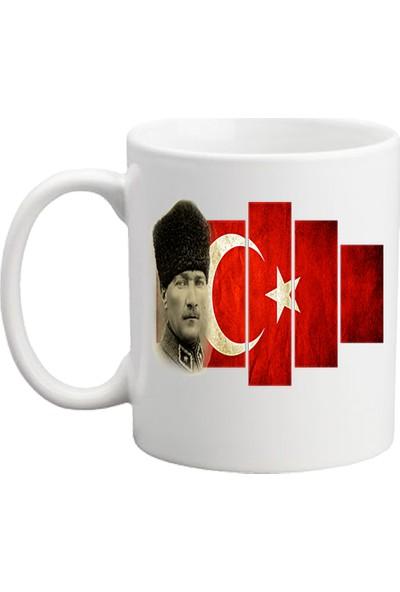 Başak Su Hediye Dükkanı Atatürk Beyaz Kupa Bardak