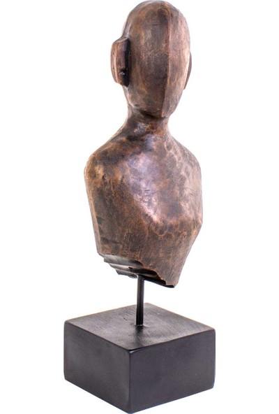 Piyop Dekoratif Antik Büst 15,5 x 12,5 x 44 cm