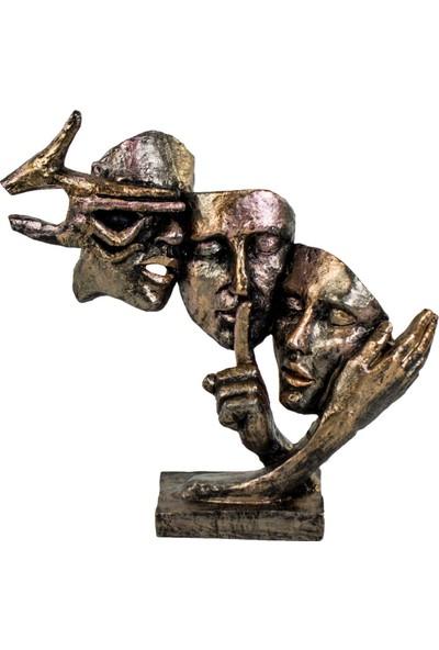 Evistro Dekoratif Biblo Maks 'Duymadım-Görmedim-Bilmiyorum' 34 x 34 cm