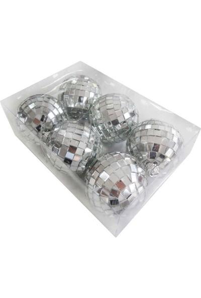 Tahtakale Toptancısı Disko Süsleme Topu Orta Boy 6 cm 6 Adet