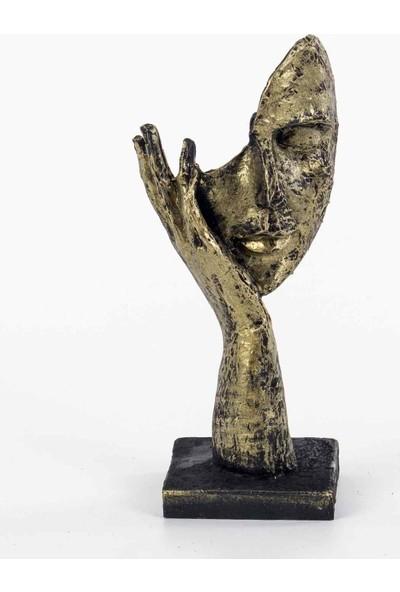 Piyop Duymadım Figürlü Mask Biblo Dore 11 x 7,5 x 25 cm