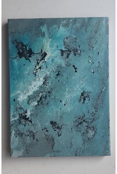 Mavi Yıldız Kozmos Kanvas Boya Tablo