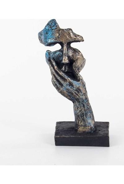 Piyop Mavi Konuşmadım Figürlü Mask Biblo 13 x 8 x 25 cm