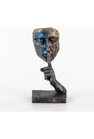 Piyop Mavi Sustum Figürlü Mask Biblo 12 x 9 x 27 cm