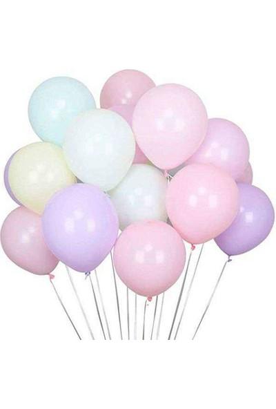 Tahtakale Toptancısı Pastel Düz Balon Makaron Balon 12 İnc Karışık Renk 20 Adet
