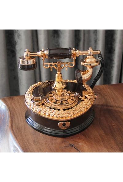 Hediye Biziz Nostaljik Telefon Müzik Kutusu Çekmeceli