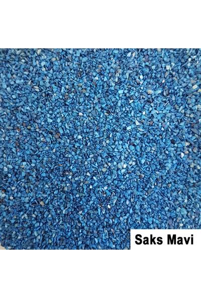Tahtakale Toptancısı Kabuk Kumu Öğütülmüş Deniz Kabuğu Saks Mavi