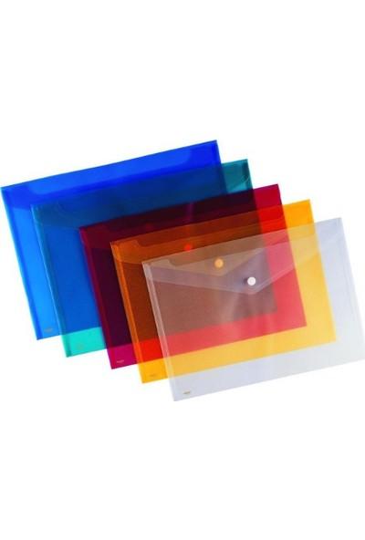 Kraf Çıtçıtlı Dosya A4 Şeffaf 1209 4Lü Karışık