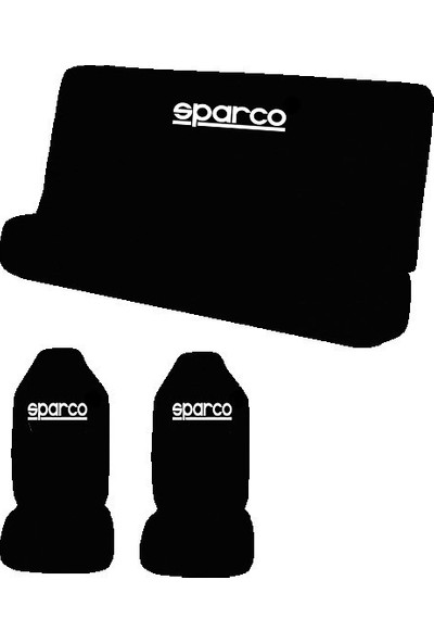 Antwax Sparco Siyah Oto Koltuk Servis Kılıfı 4 Parça Ön Arka Takım