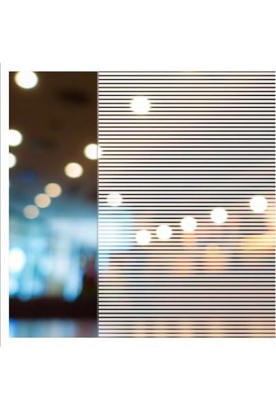 Suntek Çizgili Dekoratif Cam Filmi Ev Ofis Bina Buzlu Kumlama Folyosu