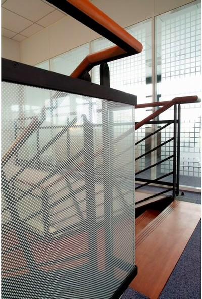 Suntek Dekoratif Cam Filmi Ev Ofis Bina Buzlu Çizgili Kumlama Folyosu