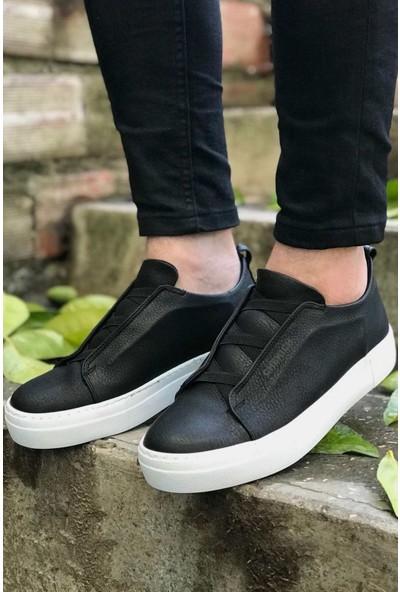 Chekich Ch013 Ipekyol Beyaz Taban Erkek Ayakkabı Siyah