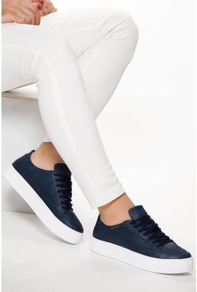 Chekich Ch015 Ipekyol Beyaz Taban Erkek Ayakkabı Lacivert