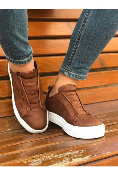 Chekich Ch013 Ipekyol Beyaz Taban Erkek Ayakkabı Taba