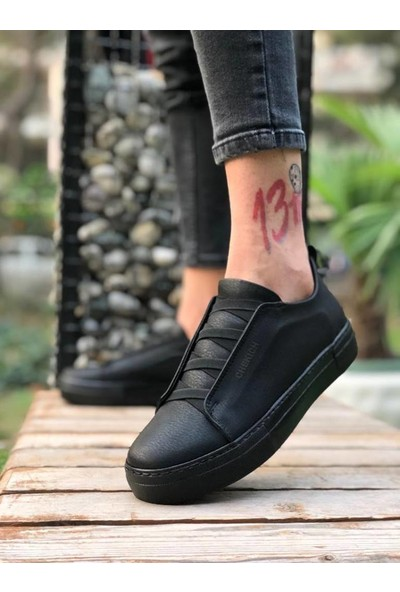 Chekich Ch013 Ipekyol Siyah Taban Erkek Ayakkabı Siyah