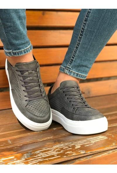 Chekich Ch015 Ipekyol Beyaz Taban Erkek Ayakkabı Antrasit