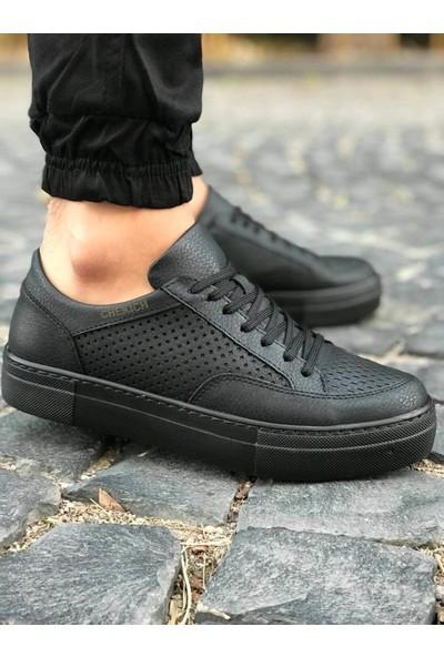 Chekich Ch015 Ipekyol Siyah Taban Erkek Ayakkabı Siyah