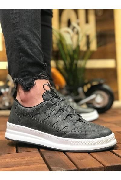 Chekich Ch040 Ipekyol Beyaz Taban Erkek Ayakkabı Antrasit