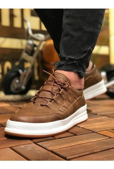 Chekich Ch040 Ipekyol Beyaz Taban Erkek Ayakkabı Taba