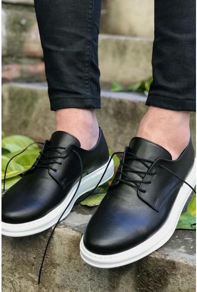 Chekich Ch003 Fantasya Beyaz Taban Erkek Ayakkabı Siyah