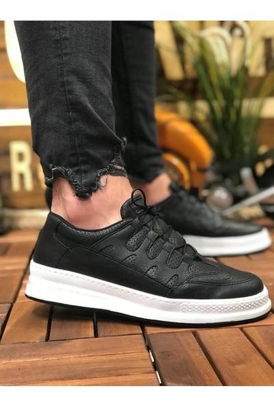 Chekich Ch040 Ipekyol Beyaz Taban Erkek Ayakkabı Siyah