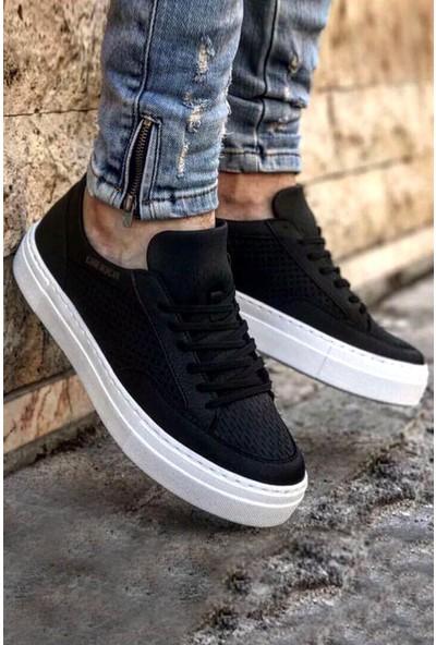 Chekich Ch015 Ipekyol Beyaz Taban Erkek Ayakkabı Siyah