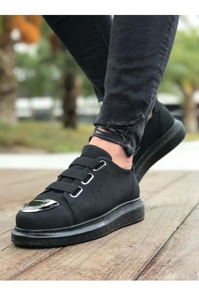 Chekich Ch251 Süet Siyah Taban Erkek Ayakkabı Siyah